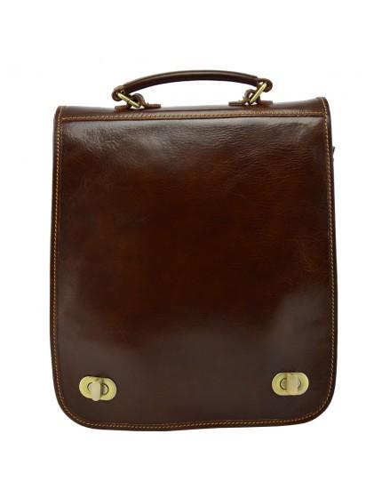 Schultertasche un Rucksack aus Echtem Leder - Lude