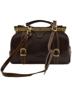 Genuine Leather Doctor Bag, 2 front buckles - Felix