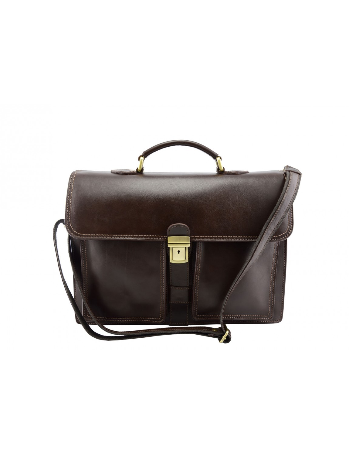 Genuine Leather Business Bag - Worge