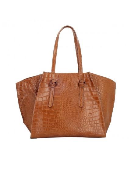 Genuine Leather Woman Shoulder Bag - Marta