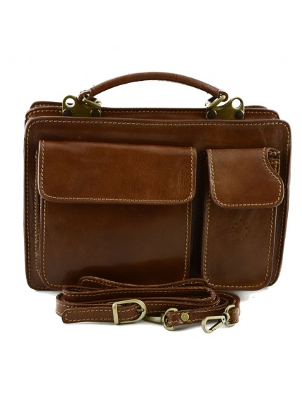 Genuine Leather Business Bag mod. Mini - Dado