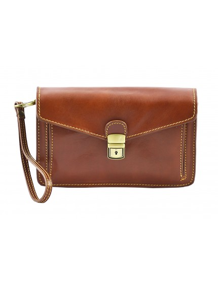 Genuine Leather Man Clutch - Malgio