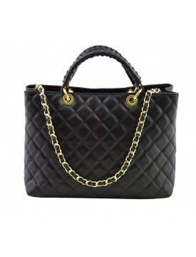 Genuine Quilted Leather Handbag - Seres