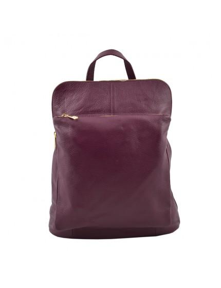 Rucksack und Schultertasche aus Echtem Leder - Helga