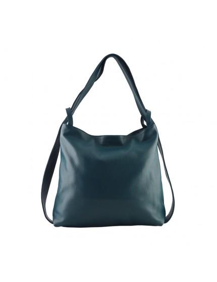 Genuine Leather Shopper Bag and Backpack - Princess