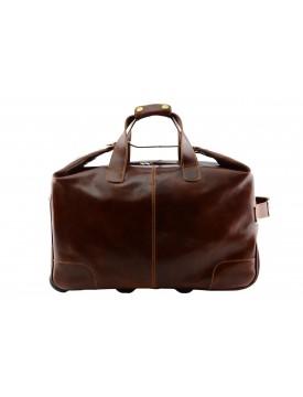 Genuine Leather Trolley Travel Bag - King