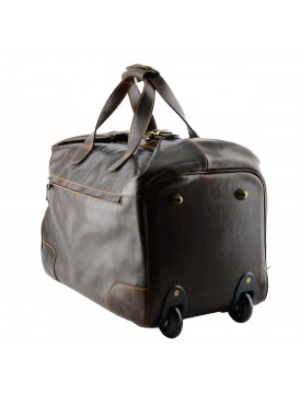 Borsone Trolley in Vera Pelle - King