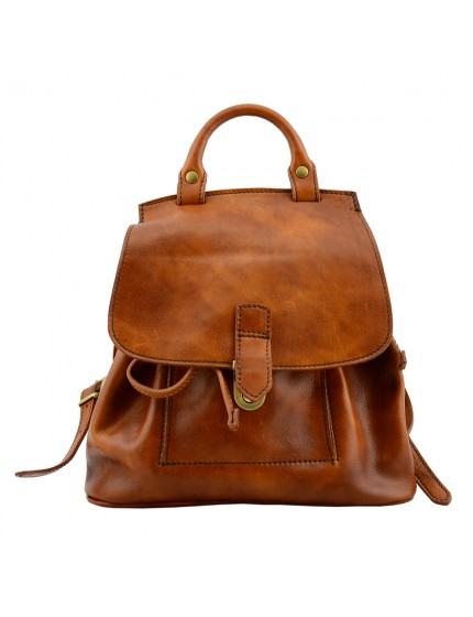 Genuine Vegetable Tanned Leather Woman Backpack - Kokove