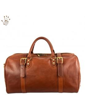 Echtes Leder Reisetasche - Moss