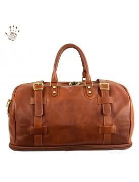 Genuine Vegetable Tanned Leather Travel Bag - Conrad