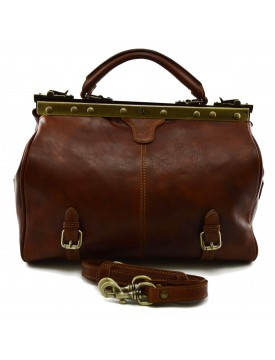 Genuine Vegetable Tanned Leather Doctor Bag - Craw